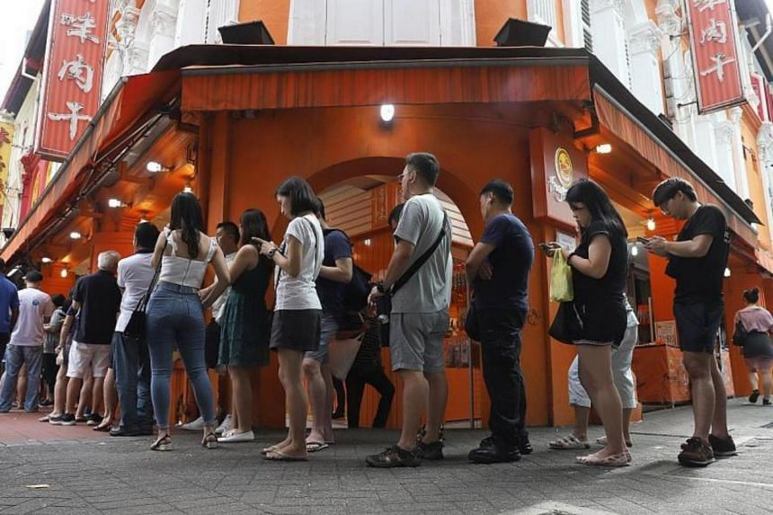 Long or overnight queues outside Lim Chee Guan's bak kwa outlets were a common sight in previous years.