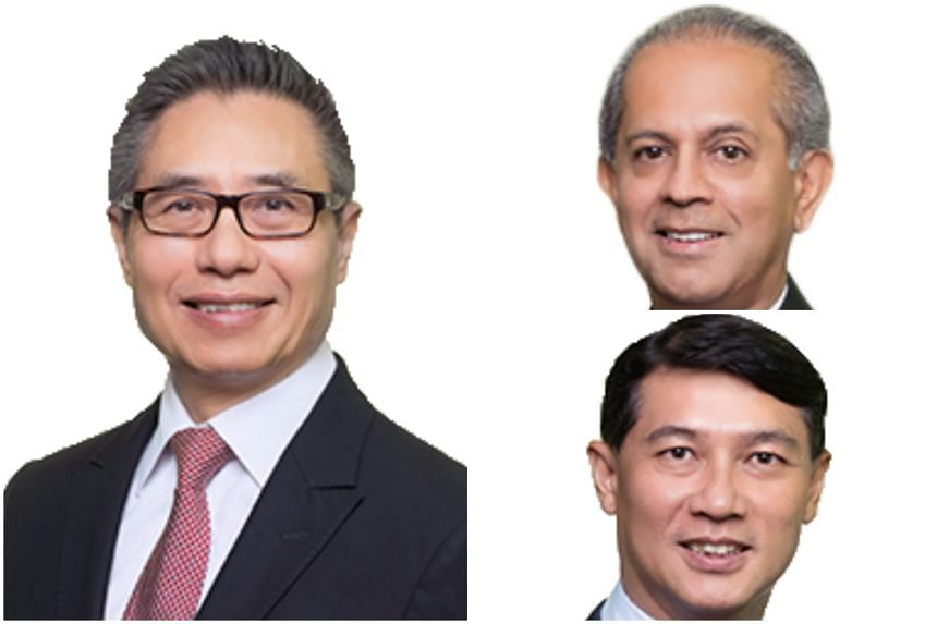 (Clockwise from left) Lau Chun Wah, Tarun Kataria and Kelvin Tan were all appointed to their positions in April 2019.