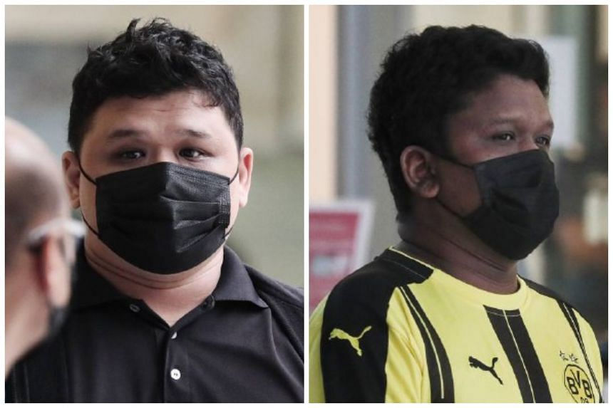 Muhammad Iski Ismail (left) was jailed for eight months and Muhammad Iskandar Ismail was jailed for two months and four weeks.
