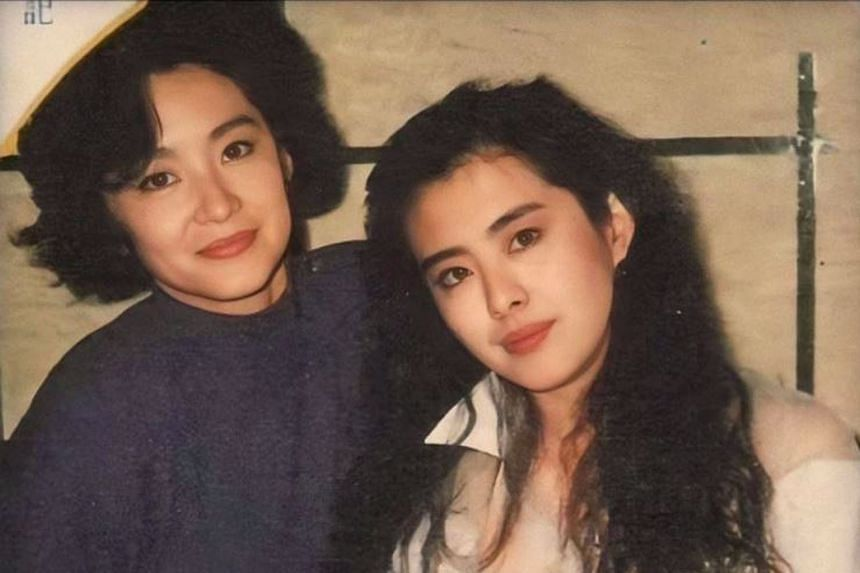 "Retired actress Brigitte Lin Ching-hsia (left) described former actress Joey Wong (right) as ""delicate and fair"" and someone who ""likes to laugh very much""."