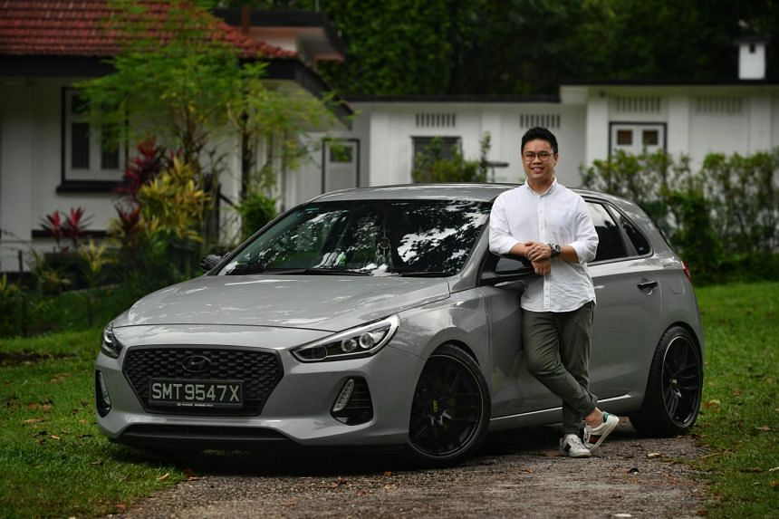 Financial planner, Andy Ng, 30, resprayed his Hyundai i30 to a battleship grey colour, just one day after buying his car.