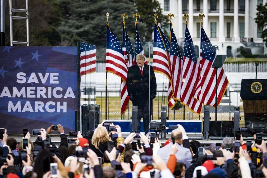President Donald Trump addressed a crowd on Jan 6 and urged his supporters to go the Capitol.