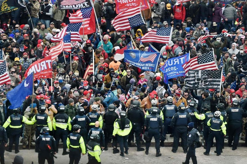 Many of President Donald Trump's supporters did not appear to be wearing masks or making any effort at social distancing.