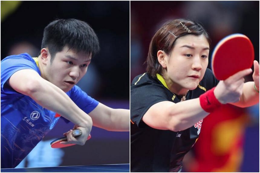 China's Fan Zhendong (left) and Chen Meng are currently the world's top-ranked players.