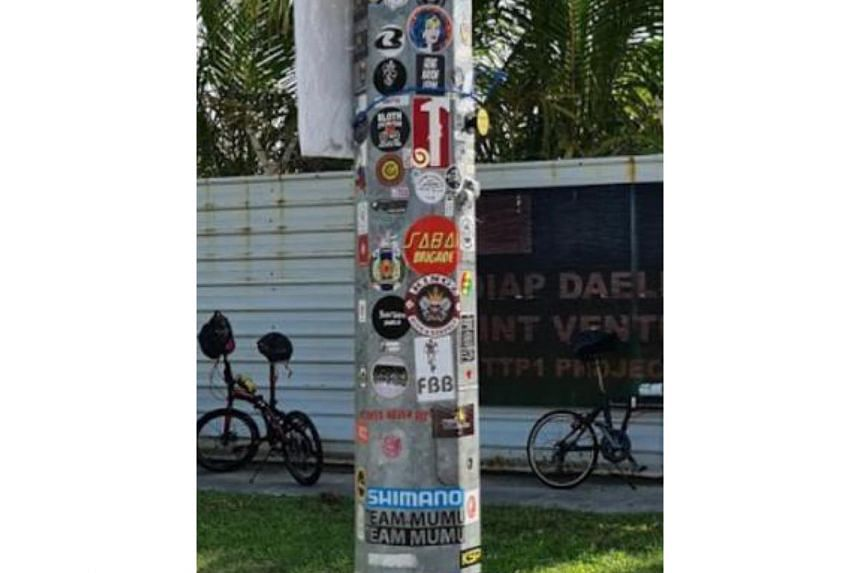 "Tuas Lamp Post 1 is the only lamp post in Singapore on which stickers can be legally pasted. Transport Minister Ong Ye Kung said the exception was made as ""it's a far out location and a special spot to help cyclists find their way""."