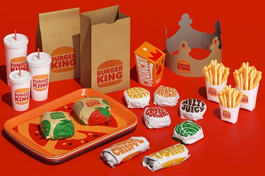 Food packaging depicting Burger King's new logo.
