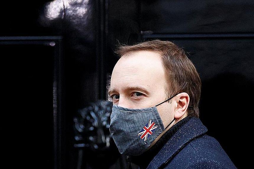 BRITISH HEALTH MINISTER MATT HANCOCK (ABOVE)