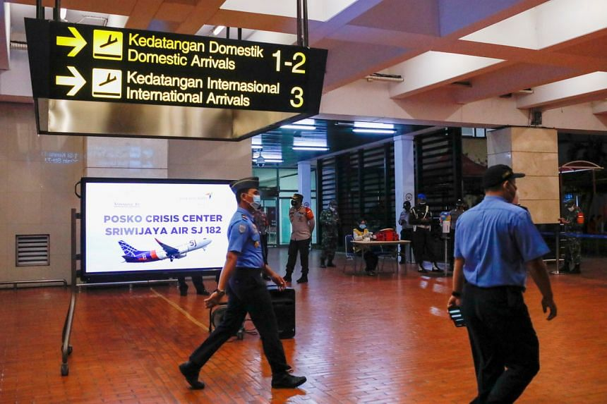 A temporary crisis centre in the domestic terminal of Soekarno-Hatta International Airport.