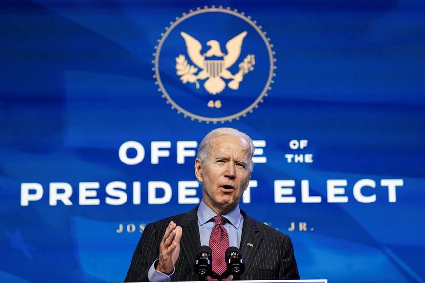Mr Joe Biden pledged to move rapidly once he becomes president to push a stimulus package through Congress.