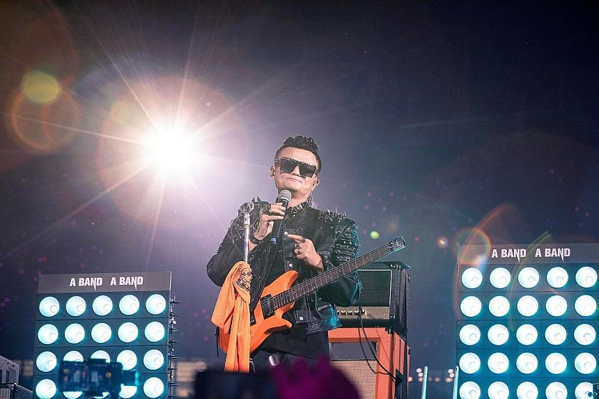 Alibaba founder Jack Ma performing on stage during the e-commerce giant's 20th anniversary party in Hangzhou, Zhejiang province, China, in 2019. He has not been seen in public since he gave a speech at the Bund Summit in Shanghai on Oct 24 last year