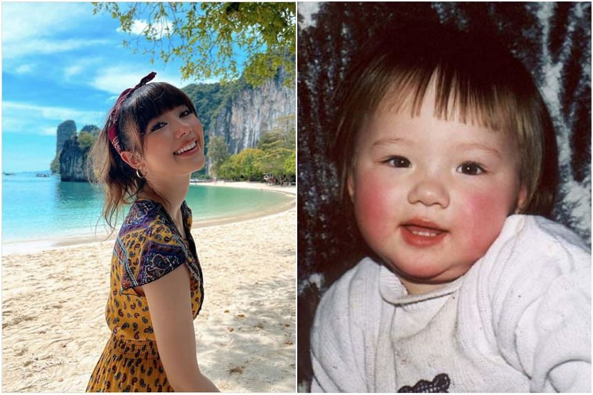 Actress-singer Jannine Weigel, 20, posted a photo of herself when she was one-year-old.
