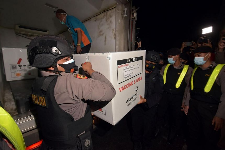 Indonesia has received 3 million doses of Sinovac's CoronaVac.