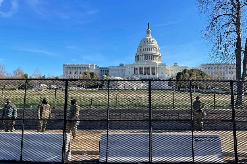 The Capitol complex remained cut off from its surroundings by troop deployments and unscalable fencing.