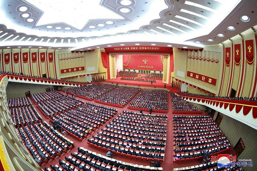 A photo supplied last week showing attendees at the eighth congress of the North Korean Workers' Party in Pyongyang. The congress signals a contentious approach towards the new United States administration after three largely fruitless meetings with
