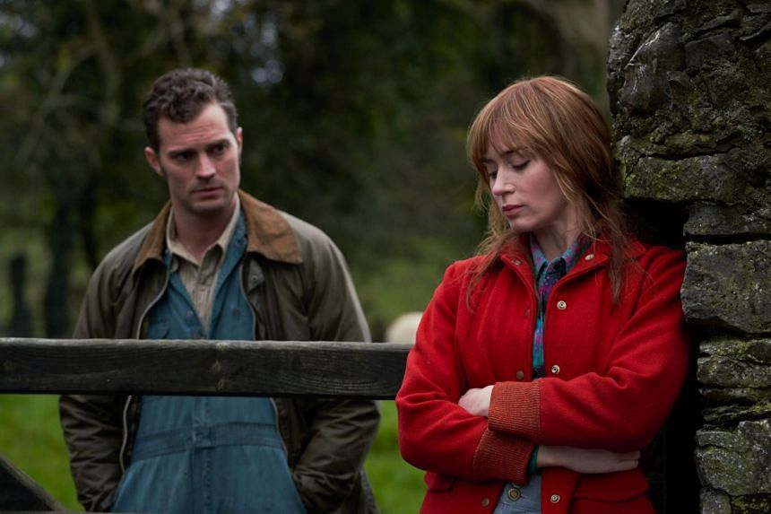 Emily Blunt (right) and Jamie Dornan star in Wild Mountain Thyme.