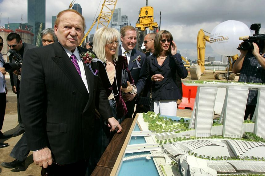 Mr Sheldon Adelson at the groundbreaking ceremony for Marina Bay Sands in Singapore in 2007.