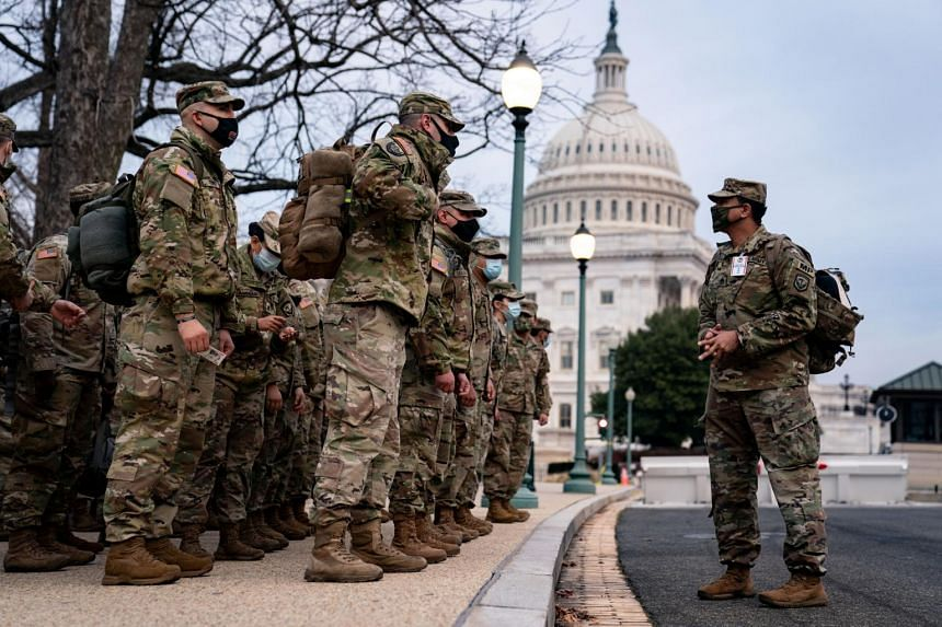 About 6,000 National Guard troops from six states have already arrived in Washington.