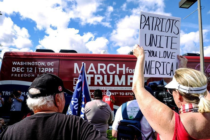 March for Trump bus tour kicks-off at Doral Central Park for a two week multi-state rally in support of President Donald Trump on Nov 29, 2020.
