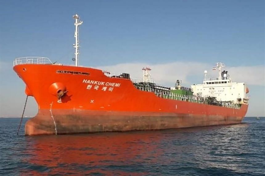 South Korean-flagged MT Hankuk Chemi was seized by Iranian Guards near the strategic Strait of Hormuz on Jan 4, 2021.