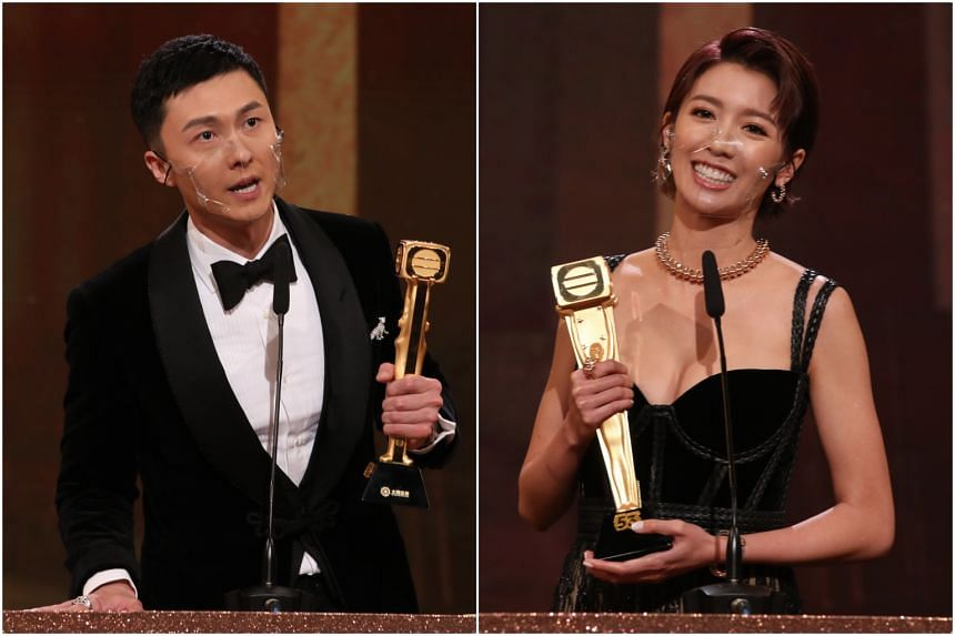 Vincent Wong won the Best Actor award for his role as a blind lawyer in the legal and crime drama Legal Mavericks 2020, while Sisley Choi was named Best Actress for her role as a legal executive in the same drama.