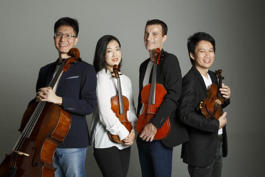 GayBird and Singapore's Concordia Quartet (pictured) will perform together despite being separated by 2,581 kilometres.