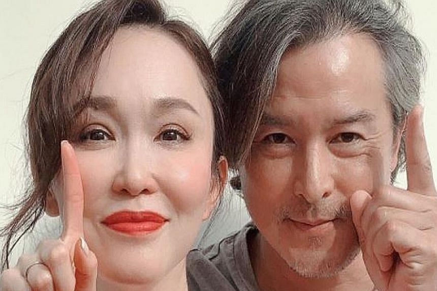 Fann Wong and Christopher Lee