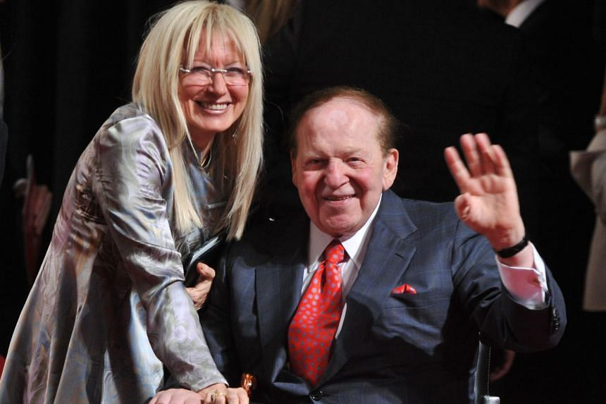 Mr Adelson's wife Miriam, 75, already controls the bulk of the shares owned by the family.