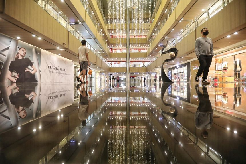 Retail activity at Paragon remains affected by Singapore's border restrictions.