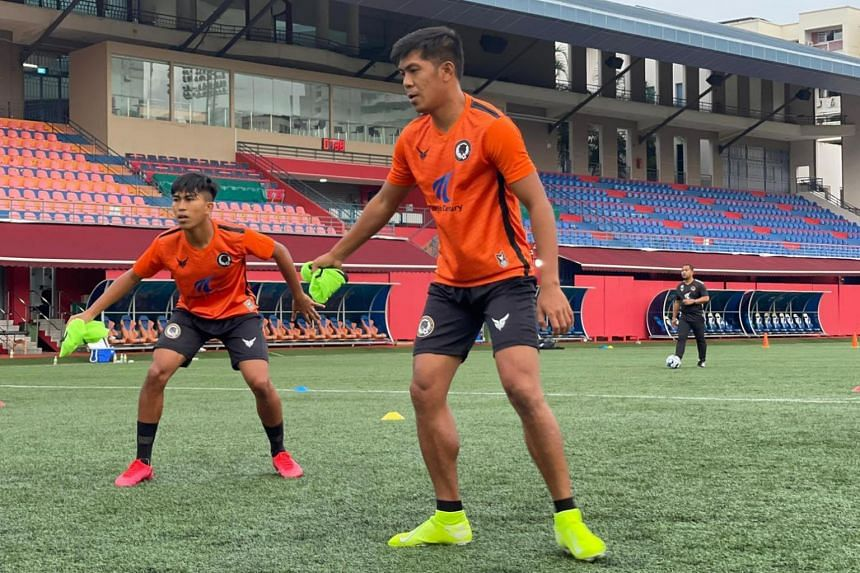 Khairul Amri (right) training with Farihin Farkhan. The Jaguars have swooped in early in the transfer market and made several surprise signings.