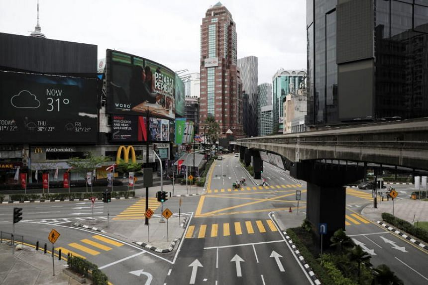 A view of deserted roads during a lockdown in Kuala Lumpur on Jan 13, 2021.