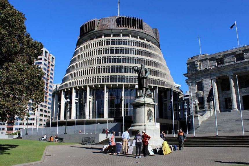 Police were called to the Parliament building, known as the Beehive, at about 5.30am on Jan 13, 2021.