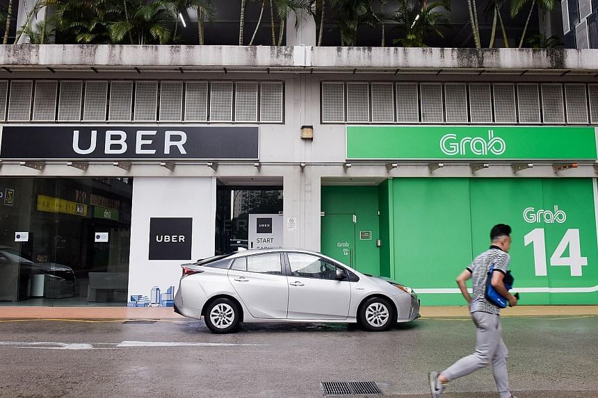 Besides the $6.58 million penalty Uber has to pay following its appeal against the decision on Grab and Uber's merger, Uber has also been ordered to pay the Competition and Consumer Commission of Singapore's costs for the appeal. ST FILE PHOTO