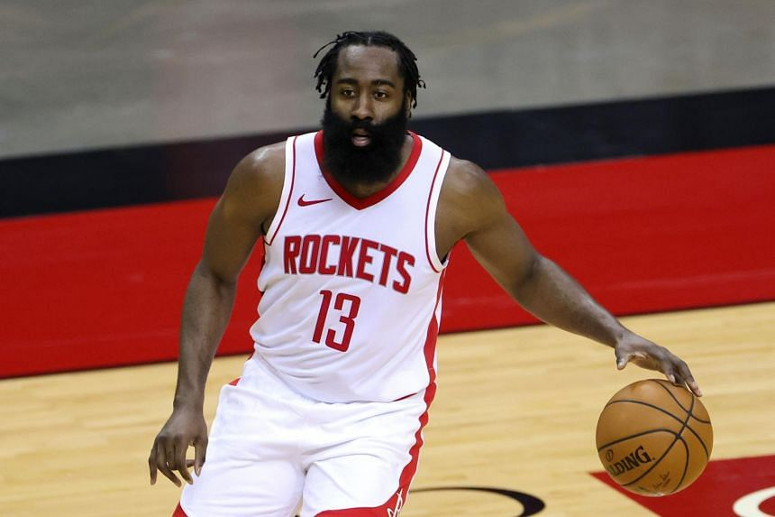 James Harden (above) has been upset with the Rockets since the departures of coach Mike D'Antoni and general manager Daryl Morey.