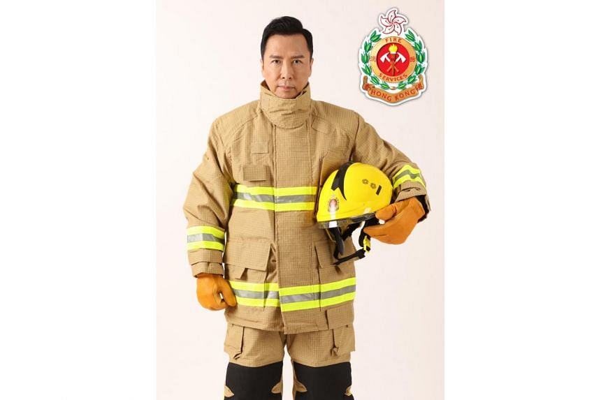 Donnie Yen was appointed the International Image Ambassador of Hong Kong Fire Services Department.