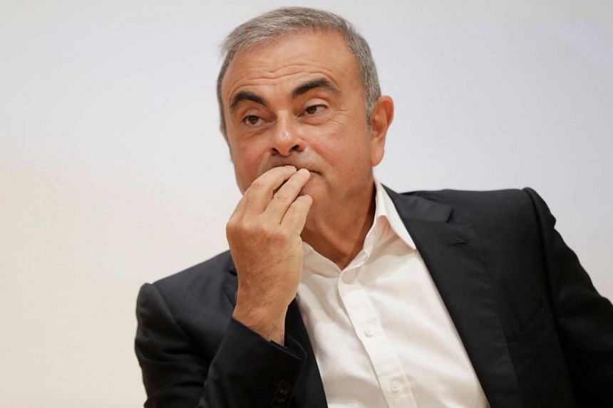 Former Nissan Motor Co chairman Carlos Ghosn during a press conference in Lebanon on Sept 29, 2020.
