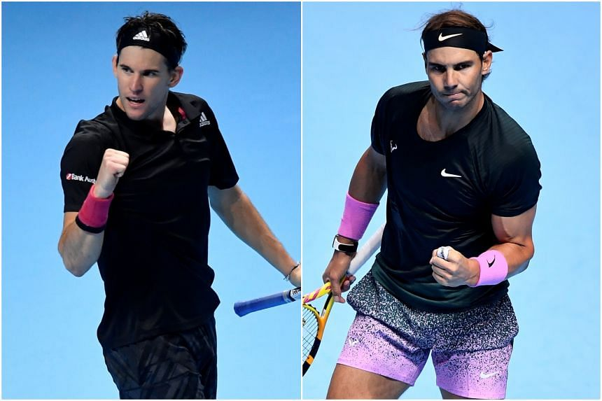 Dominic Thiem (left) and Rafael Nadal will not have their coaches with them at the Australian Open.