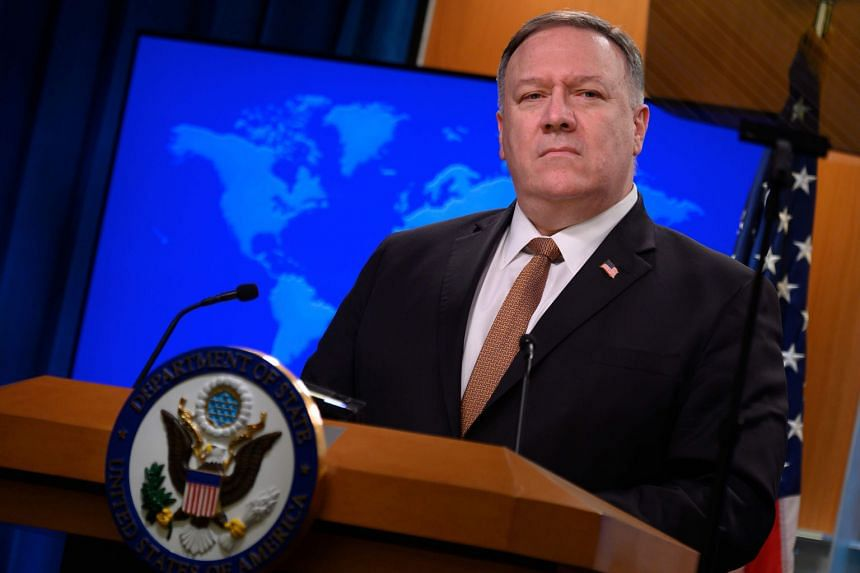 """The visit to Europe would have been Secretary of State Mike Pompeo's last foreign trip, but the State Department announced he was staying in the US to ensure a """"smooth and orderly"""" transition."""