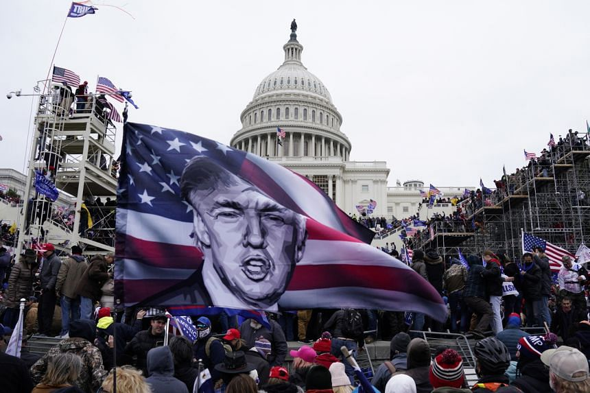 Mr Trump said that political violence had spiralled out of control over the past year and urged it to stop.
