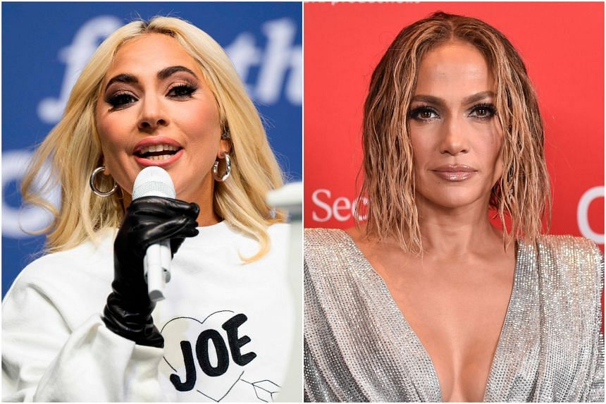 Lady Gaga (left) will sing the national anthem and Jennifer Lopez will perform a musical number at the inauguration ceremony.