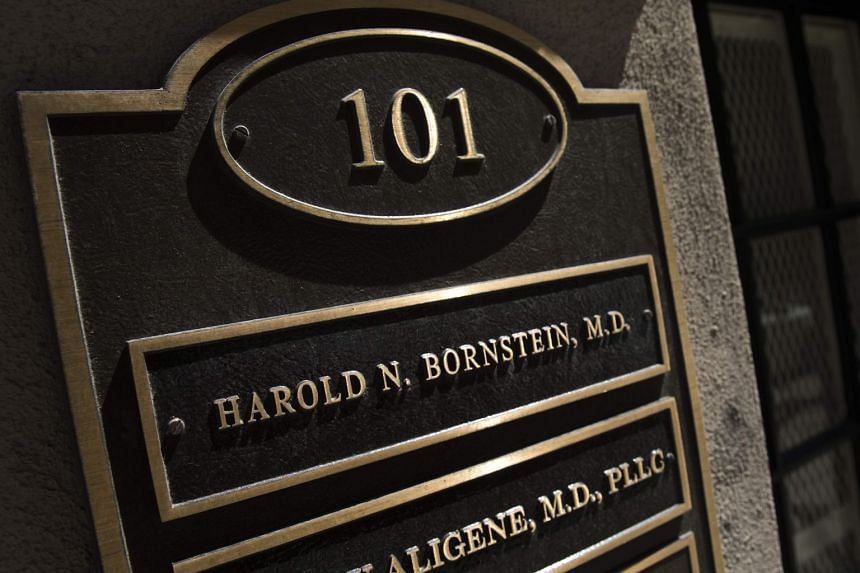 A nameplate at the office of Donald Trump's longtime personal physician in New York City.