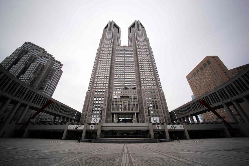 The Tokyo Metropolitan Government building as seen in Tokyo's Shinjuku district on Jan 6, 2021.