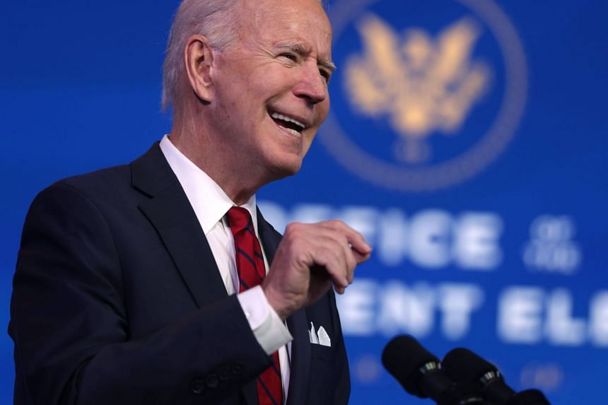 Biden speaks during day two of laying out his plan for combating coronavirus on Jan 15, 2021, in Wilmington, Delaware.