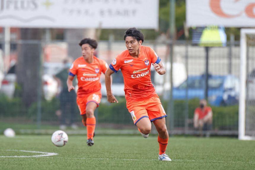 Albirex Niigata FC striker Tomoyuki Doi in action in the AIA Singapore Premier League match, on Nov 8, 2020.