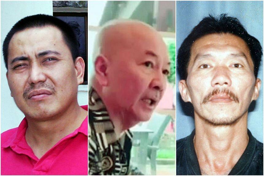 (From left) Tan Chor Jin, Roland Tan Tong Meng and Aw Teck Boon.