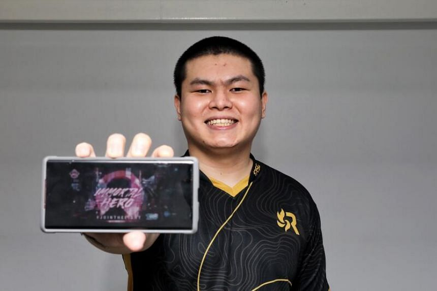 "Ho ""SynC"" Ee Hong sees live streaming as a way to hone his skills as he can spend nine to 10 hours playing MLBB daily."