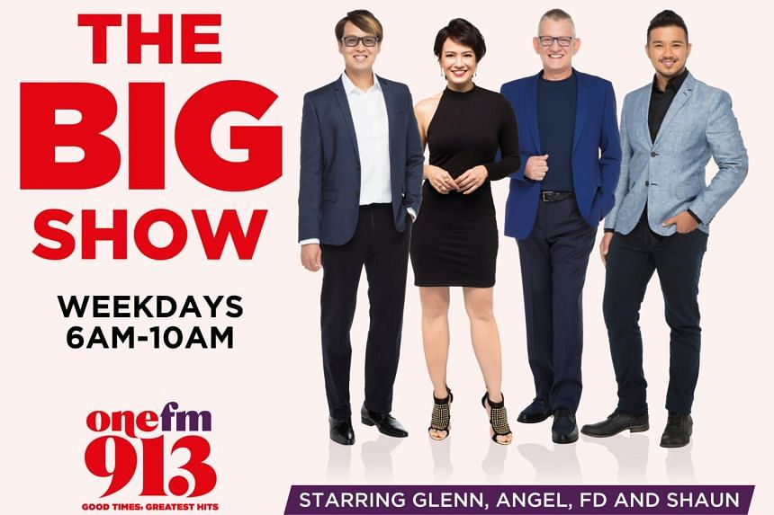 The BIG Show features hosts (from left) Glenn Ong, Angelique Nicolette Teo, The Flying Dutchman and producer Shaun Tupaz.