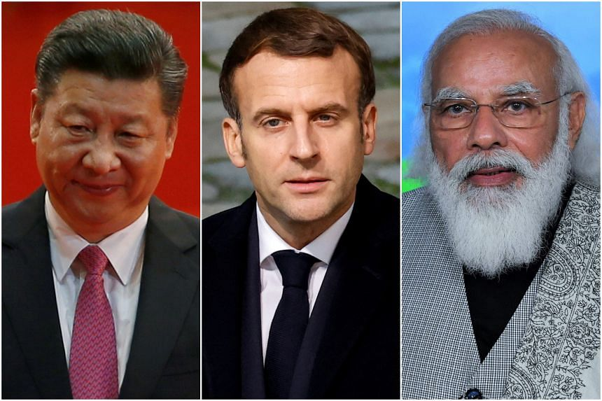 Chinese President Xi Jinping, French President Emmanuel Macron and Indian Prime Minister Narendra Modi will be among the speakers at the World Economic Forum's online event.