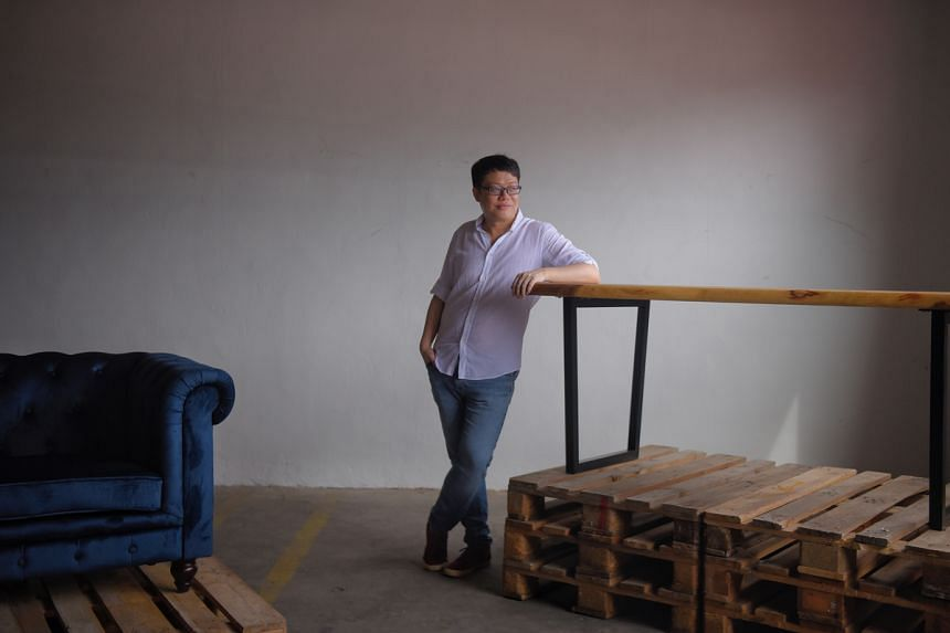 Ryan Wong, co-founder of online furniture store BedAndBasics, at the company warehouse, on Jan 13, 2021.