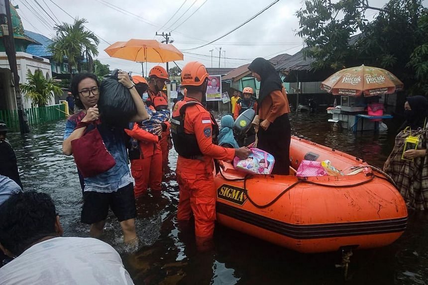 Ten cities and regencies in the province battered by heavy rain since earlier this month have been affected.