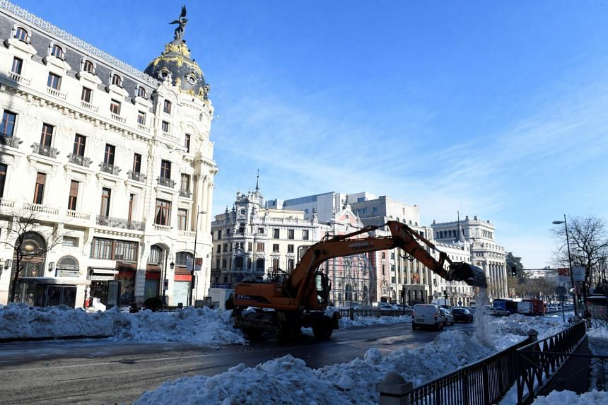 Last week's Storm Filomena caused at least 1.4 billion euros (S$2.26 billion) in damage to the capital Madrid.